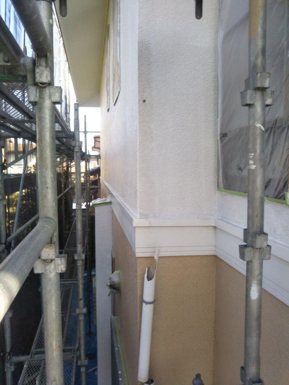 施行中の外壁